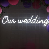 Other Event & Party Supplies Custom Neon Sign Our Wedding Lights Decoration Wall Mural Bridal Gift Led Lamp For Room Bar Personalized Decora