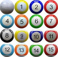 3 # 7 인치 풍선 snook 축구 공 파티 호의 16 조각 당구 스누커 축구 Snookball 야외 게임 선물 DH9470