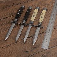 High-end Tactical Folding Knife 10 Inch Italian AB Mafia Stiletto Horizontal Knives D2 Blade C81 EDC Tools