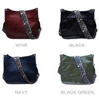 Shoulder Bags Reatil PU Faux Leather Crossbody Bag DOM1131895 Fashion Women Messenger Purse With Long Leopard Print Strap
