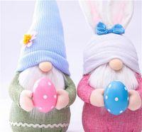 الفصح الأرنب جنوم الربيع التماثيل عيد الفصح مجهولي الهوية القزم دمية الأرنب هدايا السويدية قزم عطلة الديكور المنزل 168 v2
