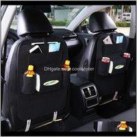 Housekeeping Organization Home & Garden Drop Delivery 2021 Car Seat Back Organizer Storage Bag Trash Net Holder Multi-Pocket Travel Hanger Fo