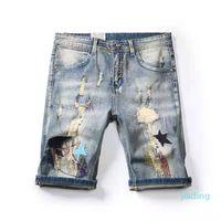 2021 Mens pants Shoes shorts Jean Coconut trees graffiti ripped capris shkinny Jeans Designers Men S Clothing