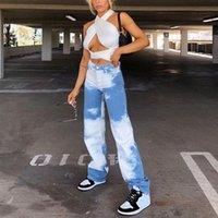 Women's Pants & Capris Y2k Tie Dye Print Women Sweatpants Streetwear Joggers Wide Leg Harajuku Aesthetic 90s Trousers