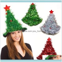 Masks Festive Supplies Home & Gardenchristmas Tree On Headband Father Christmas Xmas Party Santa Fancy Dress Costume Hat Holiday Decorations