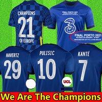 Chelsea four 20 21 22 WERNER HAVERTZ CHILWELL ZIYECH Camisas de futebol 2021 2022 PULISIC home blue Football Shirt KANTE MOUNT 4th Men Conjunto infantil Tops com meias