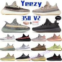 Adidas yeezy 350 تعزيز الرجال النساء الاحذية الرماد الأزرق الكمثرى الحجر الطين cinder عاكس إشرفيل الطبيعية زيون أسود ثابت زيبرا رجل أحذية رياضية مع صندوق