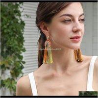 Chandelier Bohmia Rainbow Tassel Earrings Dangle Drop Stud Ear Rings For Women Fashion Jewelry Will And Sandy Gift 2Jsgf Zknwk