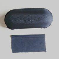 Овальный черный корпус с тканевым покрытием Солнцезащитные очки Чехлы для женщин Мужские очки Box Eva Zipper Очки Аксессуары