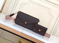 2021 여성의 핸드백 체인 바백 2 조각 / 망 지갑 꽃 크로스 바디 가방 숙녀 지갑 상자