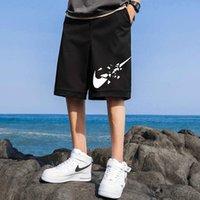السراويل الرجال 2021 الصيف العصرية أزياء العلامة التجارية التجفيف السريع الحرير الجليد الخارجي ارتداء فضفاض رقيقة عارضة السراويل اقتصاص السراويل الشاطئ