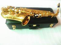 Yanagisawa A-992 Alto Eb Tune ساكسفون الآلات الموسيقية النحاس الجسم الذهب ورنيش السطح ساكس مع حالة لسان حال