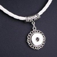 Мода искусственная кожа 18 мм привязки подвесные ожерелья магнитная пряжка NW2756