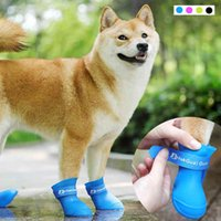 Pet Dog Rainshoes Waterproof Silicone Dog Shoes Anti-skid Boots For Small Medium Large Dogs Cats Rainy Days Appear Pet Supplies