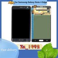 """Panneaux tactiles de téléphone portable 5.6 """"Digitzer d'écran d'origine de super qualité pour Samsung Galaxy Note 4 Edge N915 LCD Affichage de remplacement"""