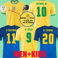 20 21 Brezilya Richarlison G.Jesus Futbol Formaları Camiseta Copa Amerika Finalleri 2021 2022 Oyuncu Sürümü Coutinho Firmo Marquinhos Casemiro Brasil Futbol Gömlek