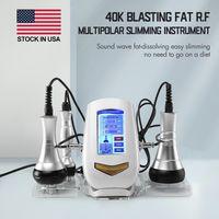 4-IN-1 Body Slimming&Face Lifting Machine 40K Cavitation Ultrasonic 5MHz RF Radio Vacuum Cellulite Burner Remove Fat Weightloss