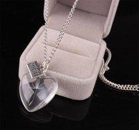 Стеклянная бутылка ожерелье натуральный одуванчик семена одуванчика в стекле Сделайте желание стеклянного бусины Орб посеребренные длинные цепи ожерелье натуральный DANDE 107 O2