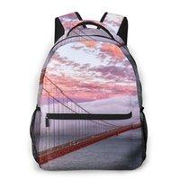 Backpack Casual Travel Bag Golden Gate San Francisco Bridge Sunset Cloud School Fashion Shoulder For Teenage Girl Bagpack