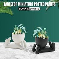 Pentola pianta succulente con foro carino animale flower flowerpot fiore bello piccolo gatto casa giardino decorazione bonsai vasi fiori decorativi wrea