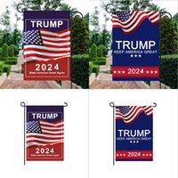 Presidente Donald Trump 2024 Bandiera 30 * 45cm Maga Kag Repubblicano USA Bandiere Anti Biden Never Biden Funny Garden Banner G31701