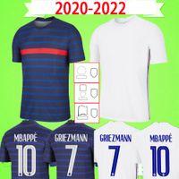 قميص كرة القدم من فرنسا 2020 2021 2022 قميص كرة القدم MBAPPE مايوه دي فوت هيرنانديز فاران جيرو ثافين كانتي بوجبا قميص تايلاندي عالي الجودة للرجال والأطفال