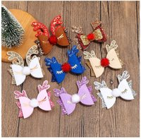 Hair Accessories 24pc lot Christmas Clip Decoration Hairpin XMAS Antlers Deer For Girls Kids Party
