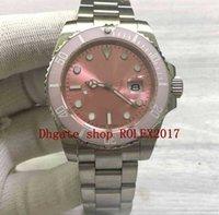Men's Luxury Fashion pink Ceramic Bezel Platinum Sapphire Movement Automatic 40mm Oysterstyle watches