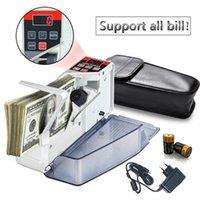 Novo Cash Machine Financial Equipamento portátil Counter Dinheiro para a maioria das Moeda Nota Bill Contagem de caixa Máquinas EU-V40