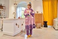 أنيقة للمرأة الفانيلا لينة رداء كم طويل مع هودي ملابس خاصة