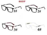 مربع مسطح مرآة الإطار للجنسين بصري عادي النظارات البصرية اللين بسيط gafas 4 ألوان 10 قطع العلامة التجارية مصمم نظارات سريع السفينة factroy السعر 8059