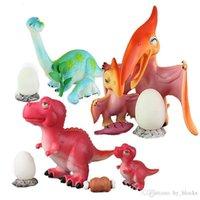 لطيف مقلد ديناصور نموذج لعبة لينة الغراء الأم والبيضة البيض الديناصور مجموعة الأطفال لغز لعب الوالدين و الأطفال هدية