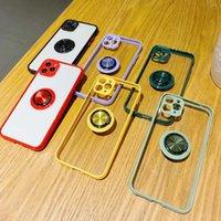 iPhone 12 프로 전화 케이스 하이브리드 Shockproof 360 손가락 링 홀더 스탠드 하드 백 커버 I11 XS XR 8 7 6s + 보호 쉘