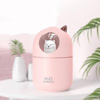 Cute pet humidifier Diffusers USB home car mini hydrating 2021 small colorful aroma pink diffuser size 138x86x86mm EWA5508