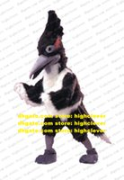 Naughty Black White Eagle Hawk Roadrunner Geococcyx Mascot Costume Adult Long Gray Sharp Mouth Clear Eyes No.5320 Free Ship