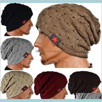Unisex Fashion Cap Slouchy Beanie, Both Sides Can Be Worn, Hollow Knitted Gorro Bonnet Red Star Casual Hats Hip Hop Snap Slouch Skull Dm8F4