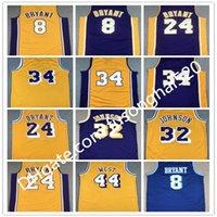 Mitchell и Ness College Баскетбол Джерси 8 Bean The Black Mamba 2001 2002 1996 1997 1999 Сшитые хорошее качество Команда Желтый синий фиолетовый винтаж