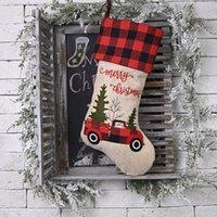 Decoraciones de Navidad, Falda de árbol de navidad, Bolsa de regalo de la media de Caramelo, Mantel de dibujos animados Placemat, Cubierta de silla