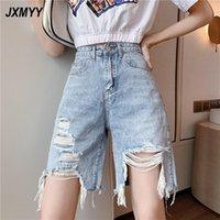 Produit de mode Denim shorts de style coréen mouler la taille haute Section mince Share Wild Wide Wide Jambes pantalons JXMYY Femmes Jeans
