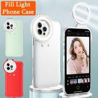 Coque de téléphone mobile portable Selfie Light pour iPhone 12Pro MAX Bague à LED de LED de remplissage Remplissage de la lumière arrière pour iPhone 12/12 Pro Nouvelle affaire