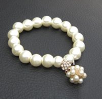 2021 Bracelet de la mode de luxe perle perle perlée charme charme bijoux femmes dame fille beau bracelet élastique beau mariage bijou de mariage