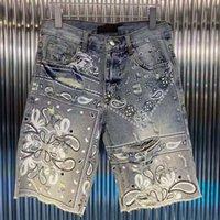 Causal Mens Calças de Jeans Curtas Moda Reta Denim Shorts Preto Azul Verão Homens Hip Hop Calças DW7082