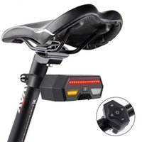 Bike Lights Bicycle TailLight With Wireless Remote Smart USB Rechargeable Steering Light Cycling Warning Rear Accessories
