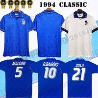 Descuento 1994 Italia National Team Retro Home Alejed Fútbol Jersey 94 Italia Maldini Baresi Roberto Baggio Zola Conte Vintage Classic Football Shirt