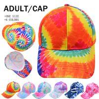 Tie-dye Graffiti Ponytail Hats Hollow Messy Bun Baseball Cap Multicoloured Trucker Hat Summer Sun Caps Fast Send LLA847