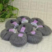 Sale New 8BallsX25g Luxury Soft Mohair Tops Wrap Shawl Hand Knit Crochet Yarn Slate 23
