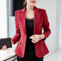 Women's Suits & Blazers 2021 Brand Autumn Clothes Formal Office Work Blazer One Button Long Sleeve Top Slim Suit Casual Jacket PZ621
