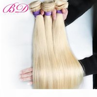 BD Malaysian Straight Hair Human Hair Extensions 12-22 Inch Non-Remy Hair 613 Blonde Bundles Wholesale Price