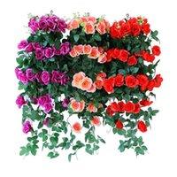 Yapay Çiçek Asma Yanlış Bitki Dekorasyon Duvar Gül Yaprakları Asılı DIY Ev Düğün Aksesuarları Dekoratif Çiçekler Çelenkler