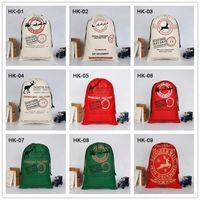 Bolso de Navidad Grandes sacos de santa de alta calidad Trazores de lona de lona Claus Bags Festival Cesta de regalo para niños Decoración de Navidad